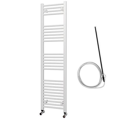 Elettrico Bianco Dritto Porta asciugamani riscaldato 1600mm x 400mm Standard elemento
