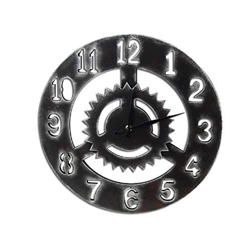 Wanduhr Kreative Vintage Holz Uhr Antike Hängende Wanduhr Sägeblatt Stumm Quarz Dekorative Holz Große Uhren Home Wanddekor