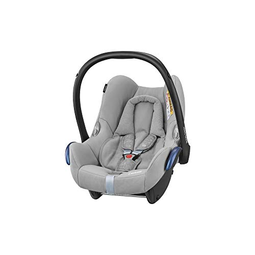Maxi-Cosi CABRIOFIX 'Nomad Grey' - Silla de auto reclinable y de alta seguridad para tu bebé, homologada R44/04, 0-12 meses, 0-13 kg, gr.0+, color gris