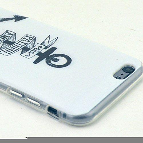 Etche TPU Housse pour iPhone 5C,Étui Coque Housse Pour iPhone 5C,coloré imprimé couvercle du boîtier de caoutchouc de silicone pour iPhone 5C + 1x Bleu style + 1x Bling poussière plug (couleurs aléato Pattern #14