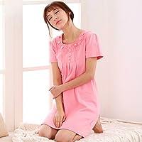 Pyjamas Sommer Nachthemd Weiblichen Rock Baumwolle Koreanischen Dünnen Abschnitt Frisches Kleid Baumwolle Kurzarm Sexy GAOLILI