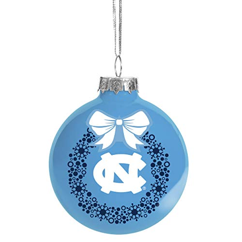 Texas Longhorns Christmas Ornament (FOCO NCAA Glaskugel Christbaumschmuck, 6 mm, North Carolina Tar Heels)