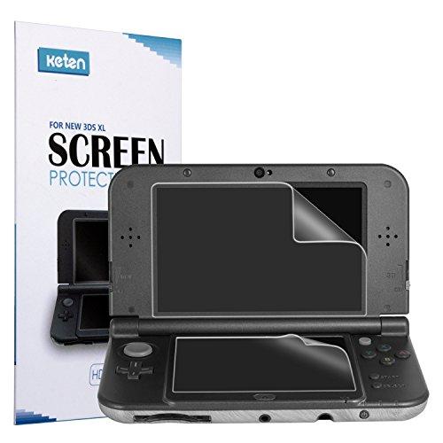New 3DS XL Displayschutzfolie [3er Pack]-Keten Ultra Clear HD Bildschirm Schutzfilter Pet Displayschutzfolie für Nintendo 3DS XL (Fire Ds-spiele Emblem)