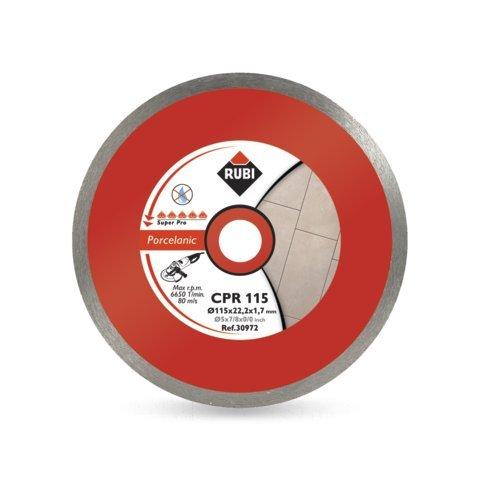 Rubi 30972 Disco Diamante gres porcelánico contínuo (CPR) 115 mm SuperPro, Gris