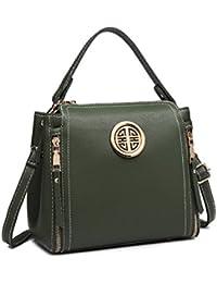 Miss Lulu Brand Women Top Handle Bag Pu Leather Cross Body Bag Stylish Handbag  Purse Small d3d238b191499
