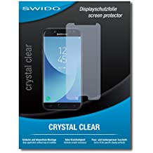 "2 x SWIDO® Protector de pantalla Samsung Galaxy J5 Pro Protectores de pantalla de película ""CrystalClear"" invisible"