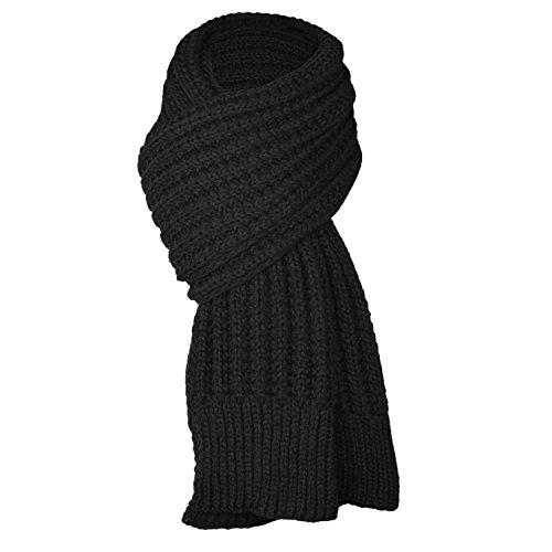 UPhitnis Lässig Einfarbig Strickschal, Winter Langschal   Warme Schal Herren Damen mit Flecht Muster
