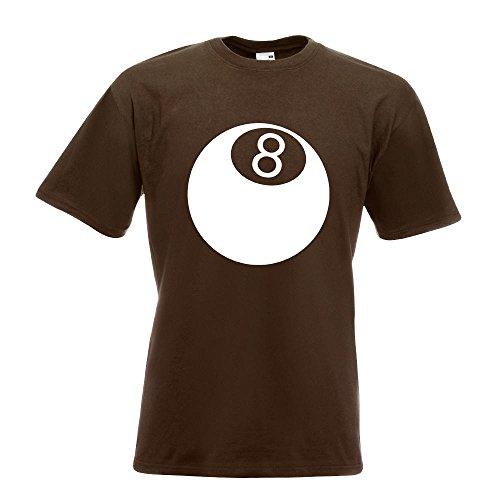 KIWISTAR - 8 Ball T-Shirt in 15 verschiedenen Farben - Herren Funshirt bedruckt Design Sprüche Spruch Motive Oberteil Baumwolle Print Größe S M L XL XXL Chocolate