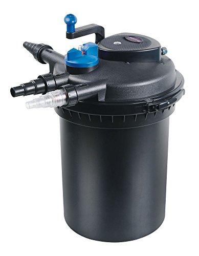 Aquaristikwelt24 CPF 10000 Bio Druckteichfilter 12000l Teichfilter Bachlauf inkl.11 Watt UVC Klärer Druckfilter Bachlauf UVC Lampe Klar