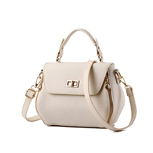 Emotionlin Delle Donne Impressionabili Bowknot Stile Progettista Cowry Spalla Borsa Top Handle Bag(Red) Beige