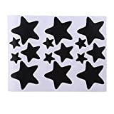 LIXIAQ1 Star Wandaufkleber Sterne Muster Wandtattoos DIY Wand Kunst Dekor für Kinder Kinder Schlafzimmer Kinderzimmer Dekoration Sterne Aufkleber Dekor Geschenk, Schwarz