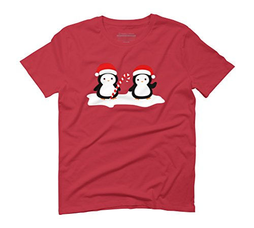Christmas penguins are so cute Men's Graphic T-Shirt - Design By Humans Red