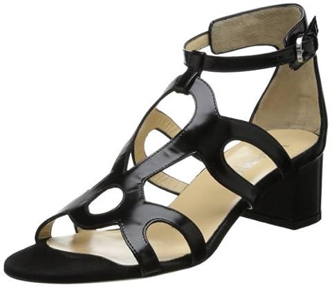 Aquatalia Women's Chloe Dress Sandal,Black Polished Calf,6.5 M