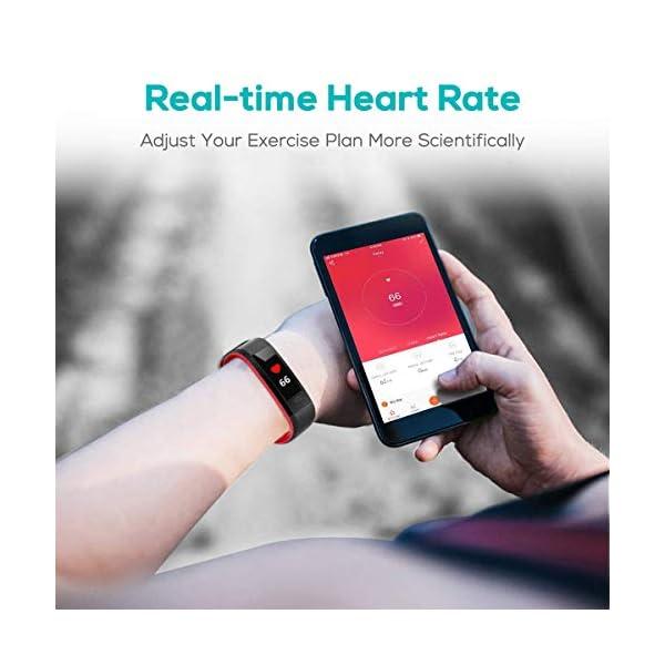 CHEREEKI Pulsera Actividad, Fitness Tracker IP68 Impermeable Monitor de Frecuencia Cardiaca 14 Modos de Ejercicio… 3