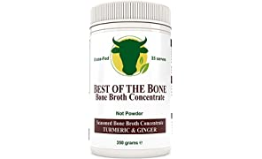 Premium Beef Bone Broth Concentrate Turmeric Flavor - 100% Sourced from AU Grass-Fed, Pasture-Raised Cattle - Healthier Skin & Nails, Healthy Digestion - Bone Broth Collagen