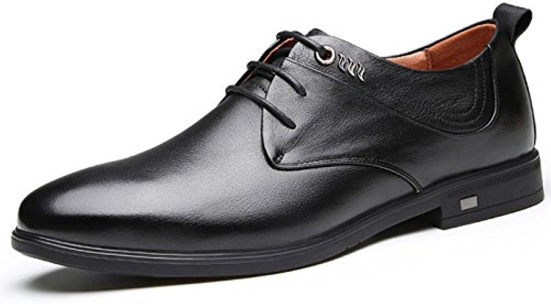 Mens Schnuumlrschuhe Abend Party Derby Schuhe Männer Runde Kopf Oxfords Kleid Golf Mode Fruumlhjahr und Herbst Lederschuhe