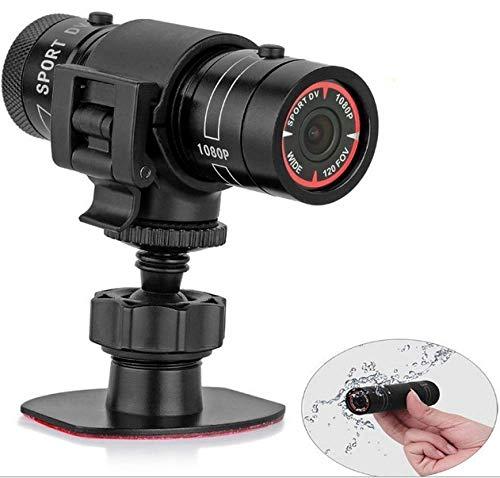 SDRFSWE Mini Tragbare Helmkamera 1080 P Nachtsicht Sport Kamera DV Sport Fahrradhelm Outdoor Taschenlampe Video wasserdichte Recorder Mit US Stecker/Schwarz