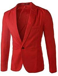 Chaqueta de Traje para Hombre STRIR Hombres Casual Un Botón Trajes Formales Abrigos Blazers de…
