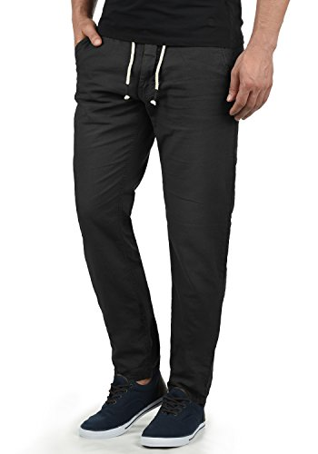 Blend Lian - Pantalones de Lino para Hombre, tamaño:XL, Color:Black (70155)