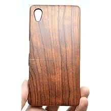 Holzsammlung® Sony Xperia Z5 Premium Funda de Madera - Palo de rosa - Natural Hecha a mano de Bambú / Madera Carcasa Case Cover