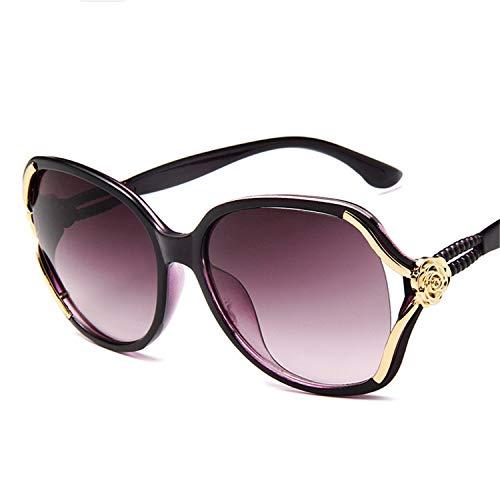 Daawqee Prämie Sonnenbrillen,Brillen,Sunglasses Women Retro Lady Driving Luxury Eyewear Elegant Fashion Ladies Sun Glasses UV 400 New Female Mirror Goggle Spectacles Purple
