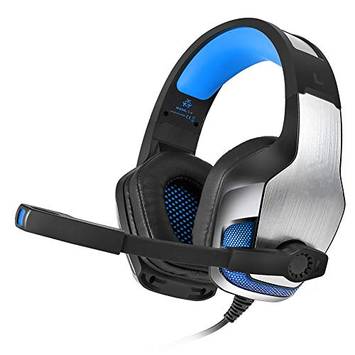 Headset Computer Headset PS4 LED Licht Anti-Noise Subwoofer Metall Gaming Headset Rotating Mikrofon Super Clear 7.1 Soundqualität (Call Duty Wireless Headset Of)