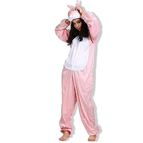 Spaß Frauen Kostüm - EraSpooky Unisex Kaninchen Kostüm Hasenkostüm Faschingskostüme Einteiler Halloween Party Karneval Fastnacht Tierkostüm für Erwachsene Herren Damen