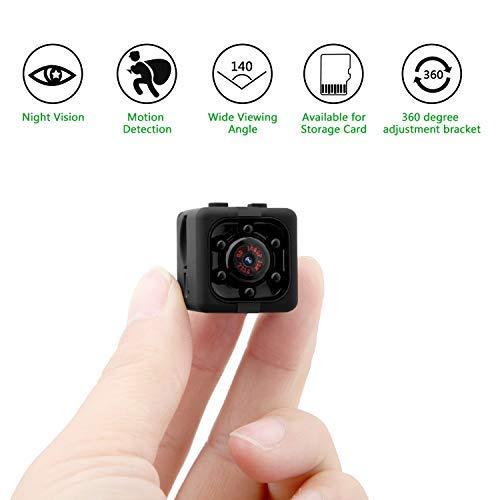 Mini Kamera, Eternal eye Full HD 1080P 12MP tragbare versteckte Spionage-Kamera mit Nachtsicht, Bewegungserkennung, unterstützt 32GB TF-Karten als Nanny Cam oder für Heim-und Büro-Überwachung