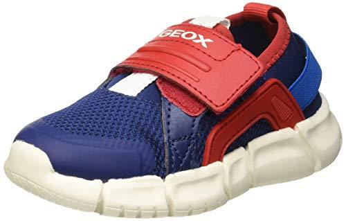 Geox Baby Jungen B FLEXYPER Boy D Sneaker, Blau (Navy/Red C0735), 24 EU (Nur D Für Babys)