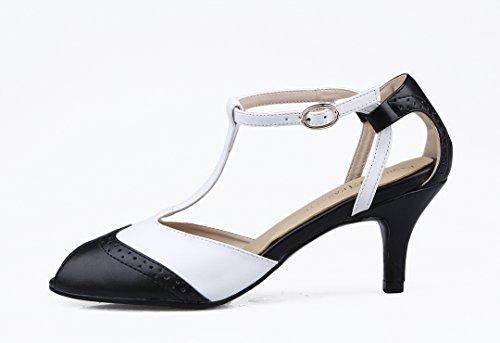 TDA - Peep-Toe donna Black/White