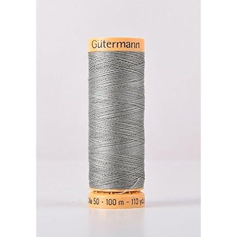 Gutermann cotone naturale 100m Quilting macchina da cucire per cucire verde–9005 - Naturale Di Cotone Per Cucire