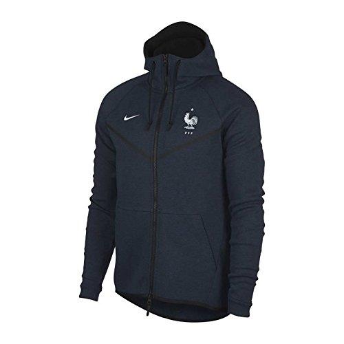 Nike 2018-2019 France Authentic Tech Fleece Windrunner Jacket (Obsidian) Nike Fleece-navy