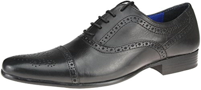 en cuir noir - brun rouge slade a hommes 10 dentelle moi chaussures 7 8 9 10 hommes 11 12 bab8d6
