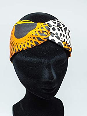 Twisted headband hairband bandeau en wax marron