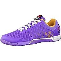 Reebok Crossfit Nano 4.0 - Zapatos de Interior Multideporte Para Mujer, Color Lush Orchid/Sunset Orange/White, Talla 35