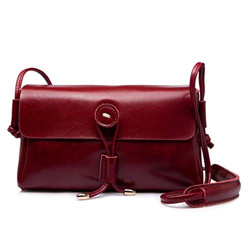 Monospalla piccolo pacchetto/vintage messenger bag/sacchetto della signora di svago-M H