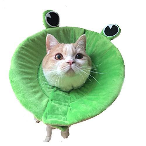 Bello Luna Soft Cone Recovery E-Collar für Hunde und Katzen mit Froschform (Größe S) -