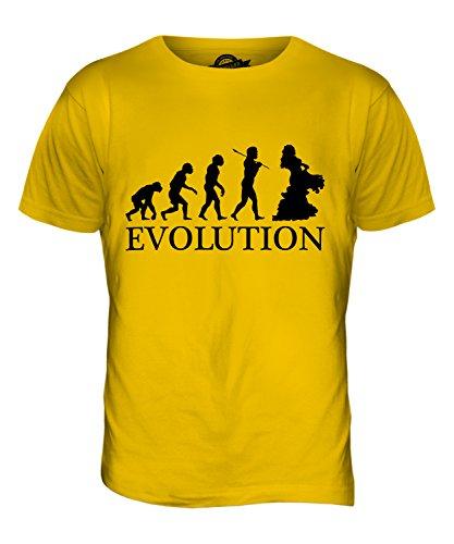 CandyMix Orientalischer Tanz Bauchtanz Evolution Des Menschen Herren T Shirt Dunkelgelb