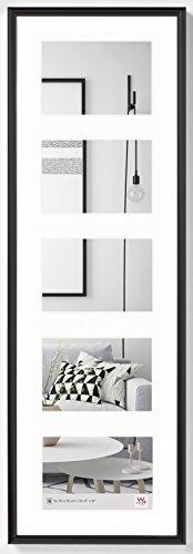 Walther, Galeria, Marco Multifoto De Plástico Para 5 Fotos, KB515H, 5x10x15 cm, Negro
