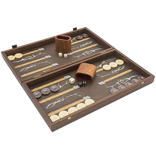 Manopoulos The Creative Range Backgammon Set Robusto Cigar mit Philos Deluxe-Becher
