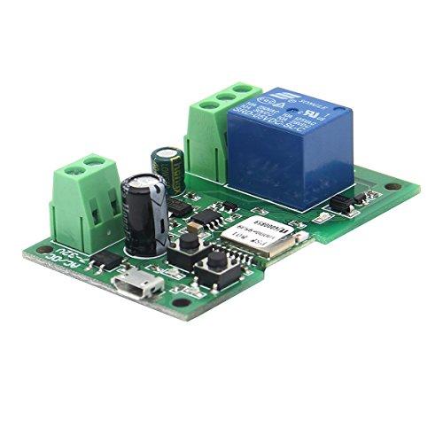 ILS - Interruttore Rel Wifi USB 5V o DC 7V-13V Fai Da Te 1 Canale Autobloccante Wireless controllo remoto da cellulare con lâ€TMapp Ewelink compatibile con Alexa, Echo e Google,
