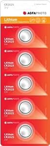 AgfaPhoto Cr2025 Lithium-Knopfzellbatterien,5Stück