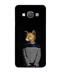 PrintVisa Designer Back Case Cover for Samsung Galaxy A3 (2015) :: Samsung Galaxy A3 Duos (2015) :: Samsung Galaxy A3 A300F A300Fu A300F/Ds A300G/Ds A300H/Ds A300M/Ds (Dog In Formal Dress Code)
