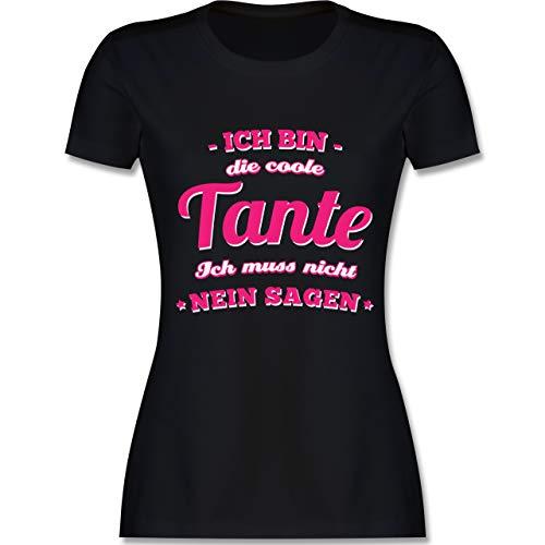 Schwester & Tante - Ich Bin die Coole Tante - M - Schwarz - L191 - Damen Tshirt und Frauen T-Shirt