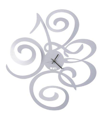 Orologio da parete filomena linea love design arti e mestieri colore alluminio