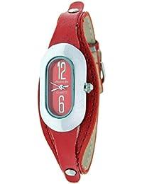 Reloj analógico de señora Christian Gar Mod.Gandia 7249- Color Rojo