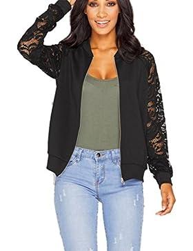 RETUROM Las mujeres atractivas del cordón largo de la manga chaqueta del juego de la chaqueta capa ocasional Outwear