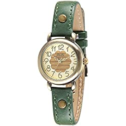 Fashion Luxury Leather Strap Quartz Women Girl Wrist Watch,Green