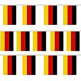 Trixes Wimpelgirlande mit 12 rechteckigen Deutschland Flaggen für Nationale Feierlichkeiten und Sportevents