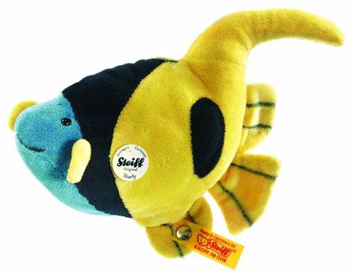 Steiff 121883 - Starly Wimpelfisch 16 cm, gelb/schwarz/blau